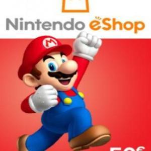 PC: Nintendo eShop Card EUROPE 50 EUR (latauskoodi)