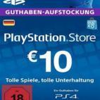 PS4: Playstation Network Card (PSN) 10 EUR (Saksa) (latauskoodi)