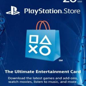 PS4: PlayStation Network Card (PSN) 20 $ (USA) (latauskoodi)