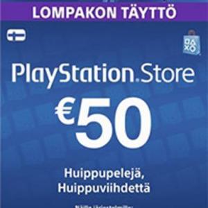 PS4: Playstation Network Card (PSN) 50 EUR (Finland) (latauskoodi)