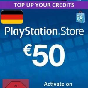 PS4: Playstation Network Card (PSN) 50 EUR (Germany) (latauskoodi)