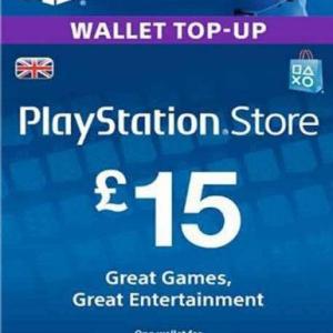 PS4: PlayStation Network Card (PSN) £:15 (UK) (latauskoodi)
