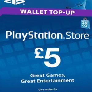 PS4: PlayStation Network Card (PSN) £:5 (UK) (latauskoodi)