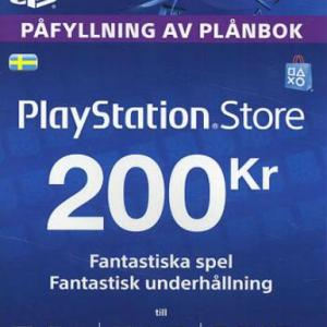 PS4: Playstation Network Card (PSN) 200 SEK (Sweden) (latauskoodi)