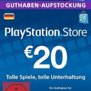 PS4: Playstation Network Card (PSN) 20 EUR (Saksa) (latauskoodi)