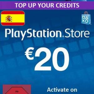 PS4: Playstation Network Card (PSN) 20 EUR (Espanja) (latauskoodi)