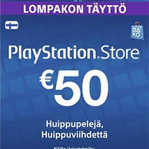 PS4: Playstation Network Card (PSN) 50 EUR (Finland) (latauskoodi)