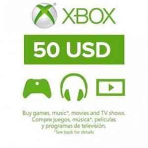 Xbox One: Xbox Live 50 USD (latauskoodi)