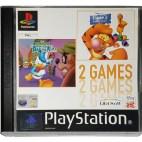 PS1: Donald Duck Quack Attack+Tiggers Honey Hunt (käytetty)