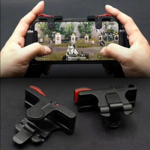 Mobiili: D9 1 Pair Mobile Phone Gaming Handle L / R Shooter PUBG Game Controller