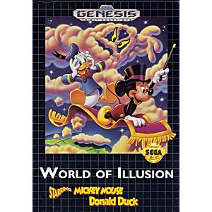 Retro: Mega Drive - World of Illusion: starring Mickey Mouse Donald Duck (käytetty)
