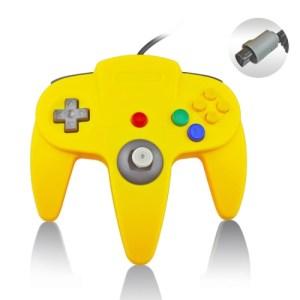 Retro: Nintendo 64 Ohjain, Keltainen (ei original)
