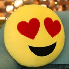 In Love Face Creative Emoji Throw Pillow Back Pillow, Size: About 28cm x 28cm