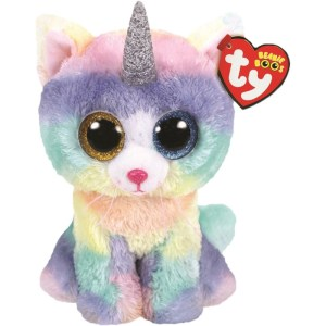 TY Beanie Boos HEATHER - cat with horn reg
