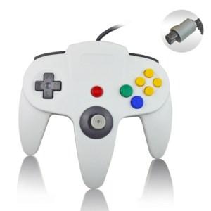 Retro: Nintendo 64 Ohjain, Valkoinen (ei original)