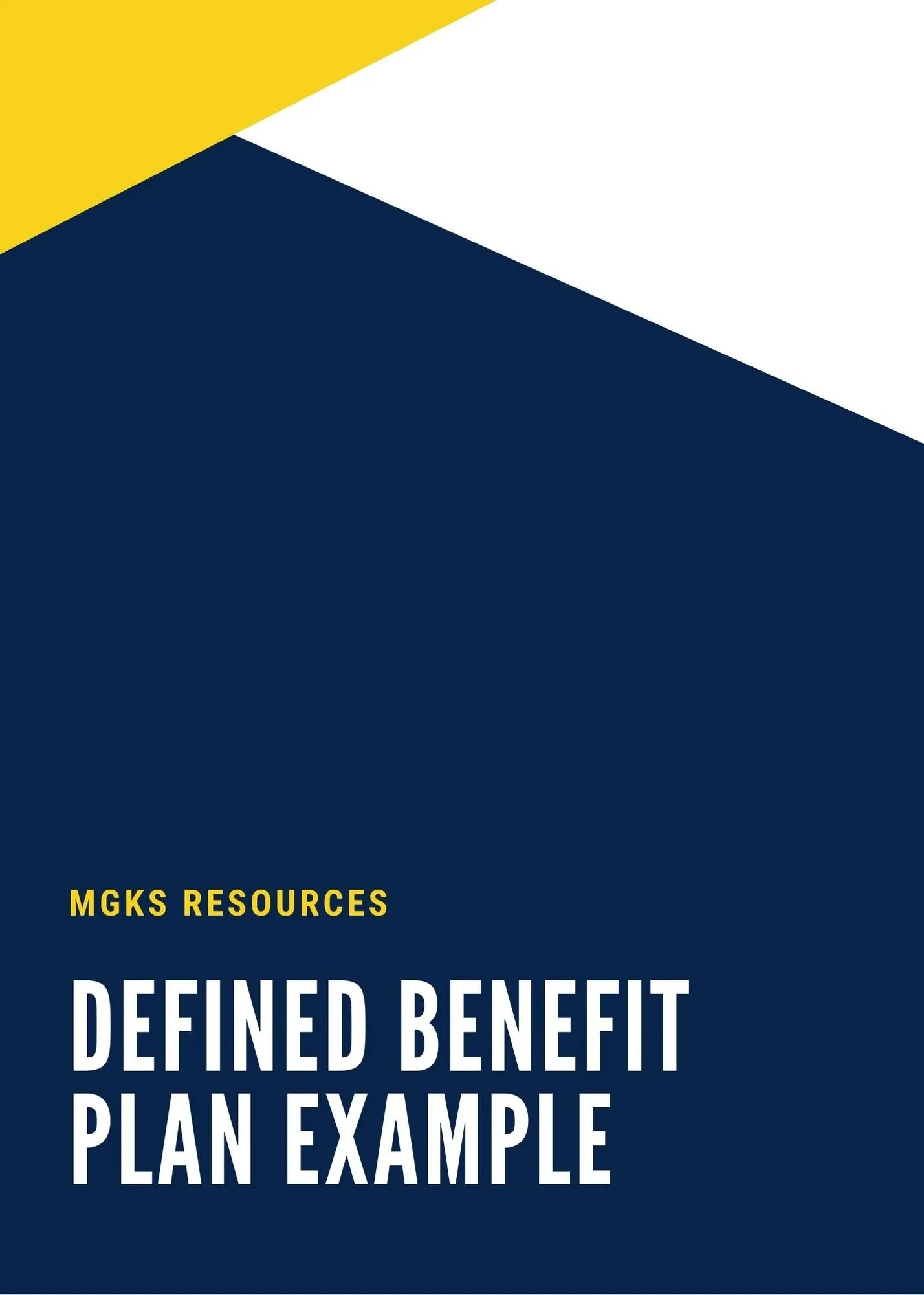 Defined Benefit Plan Ebook Cover