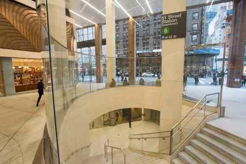 560 Lexington Subway Station - Glass Facade