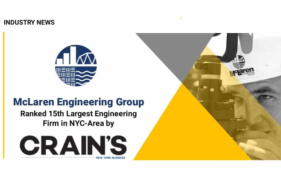 Crain's New York Business Names McLaren Engineering Group a Top NYC Area Engineering Firm