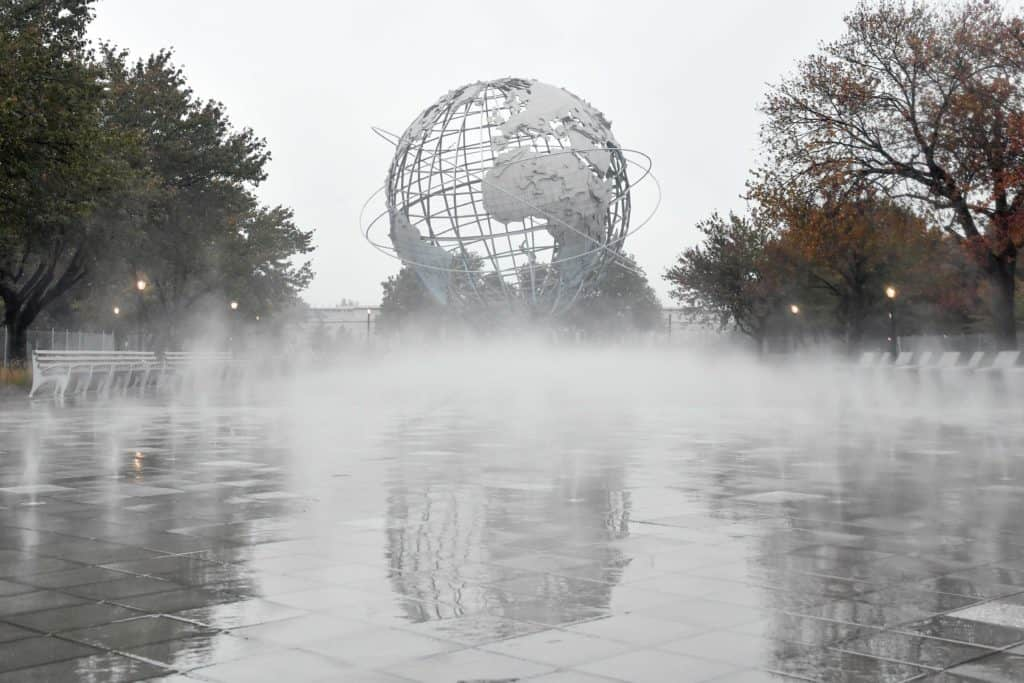 Then and now: NYC rebuilds iconic Fountain of the Fairs as a fog garden