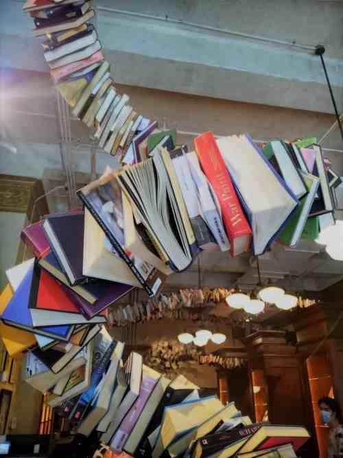 Drama Book Shop Bookworm Sculpture Design