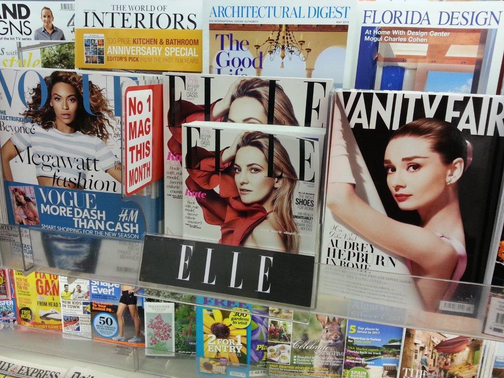 Elle magazine Shelf Talker Placement