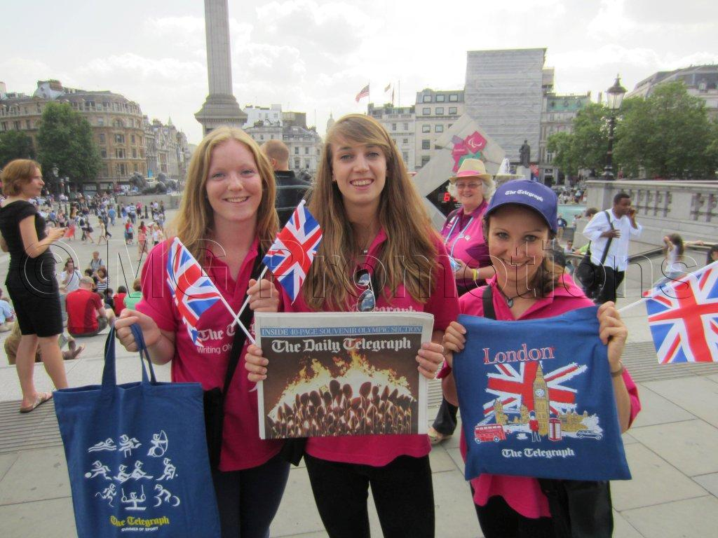 London 2012 Olympics Telegraph sales team