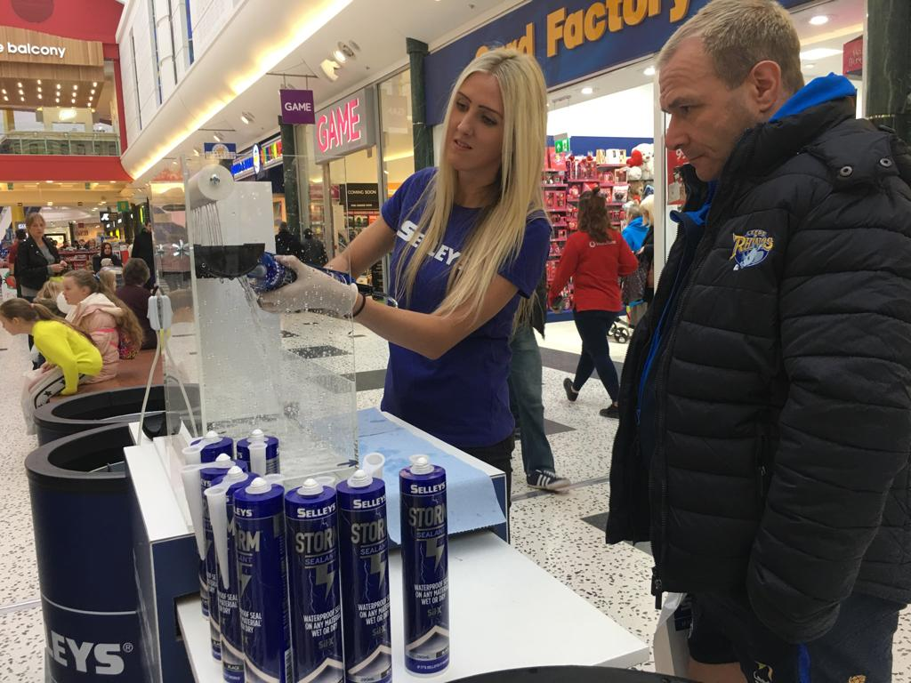 Selleys demonstration @Leeds White Rose Shopping Centre
