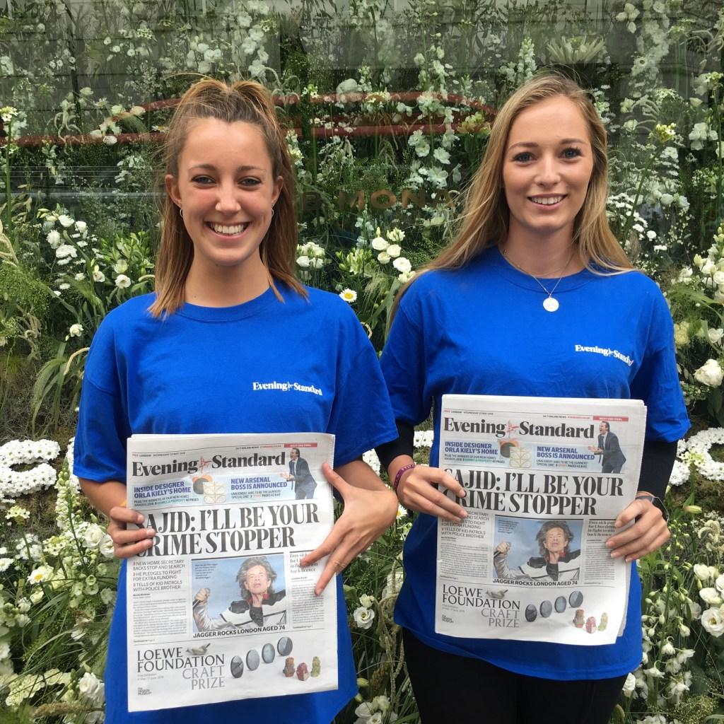 Evening Standard,Chelsea Flower Show, Sloane Square