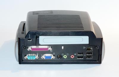 Rear view of the T5700 with the expansion side added