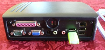 Rear view of a H-P T5700 Thin Client