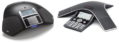 Two speakerphones