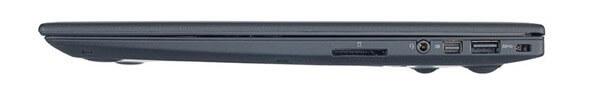 Vue latérale du Lenovo X1 Carbon avec audio