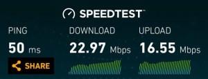 T-Mobile Speed test on Nexus 5 LTE.