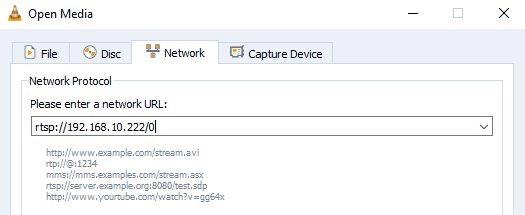 VLC - Open RTSP Stream