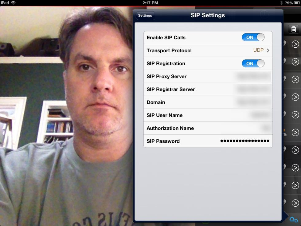RealPresence Mobile SIP Settings
