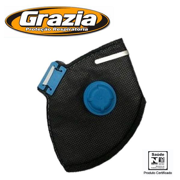 Máscara Respirador Descartável VOPFF2 com Válvula Grazia CA 28229 ... a912e40632