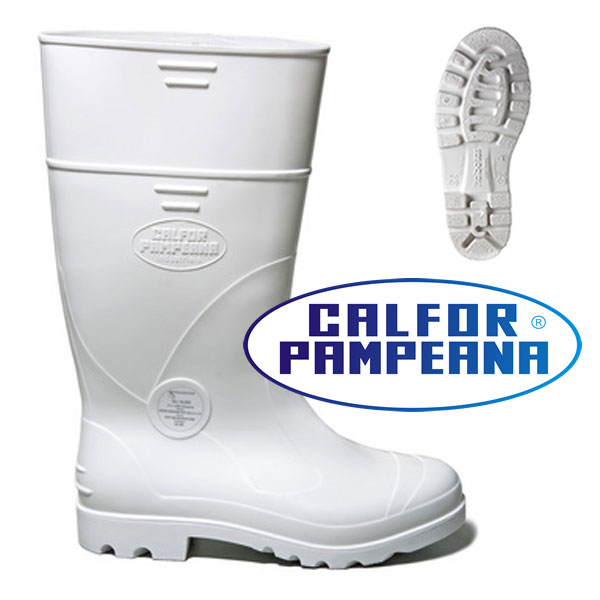 Bota de PVC Branca Cano Longo Pampeana (Maxisola) CA 37771 - MGtec ... cb4b57190a