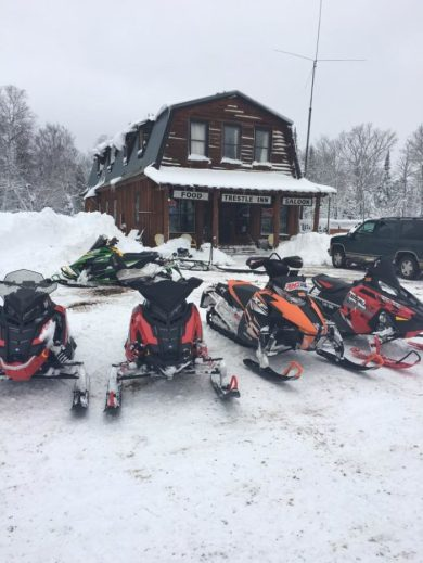 Snowmobile with friends