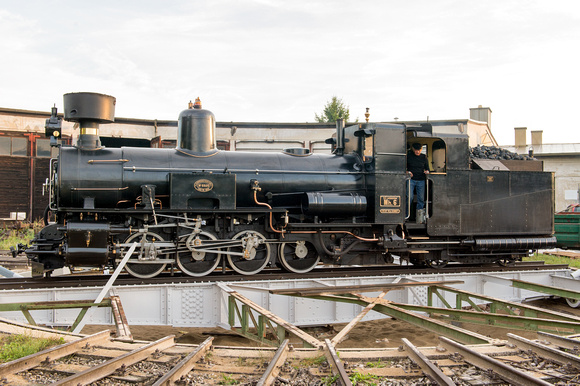 Railway turntable during restoration