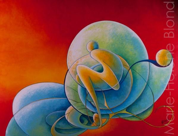 Plénitude – 2009 – Acrylique sur toile – 70 X 90 – 630€