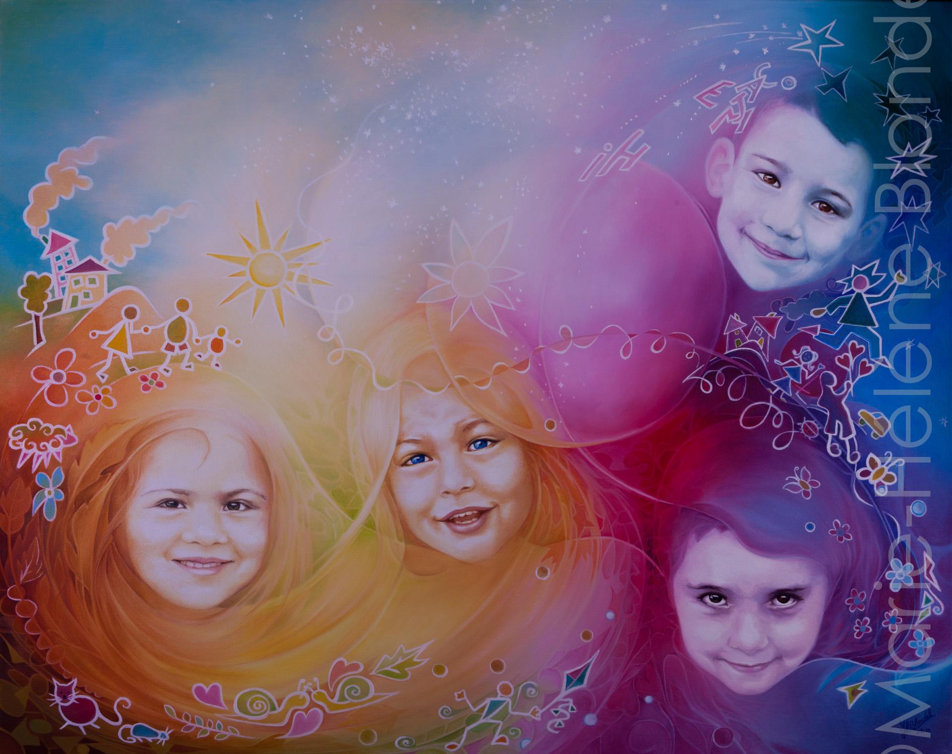Le monde de l'enfance – 2012 – Huile sur toile – 80 X 100