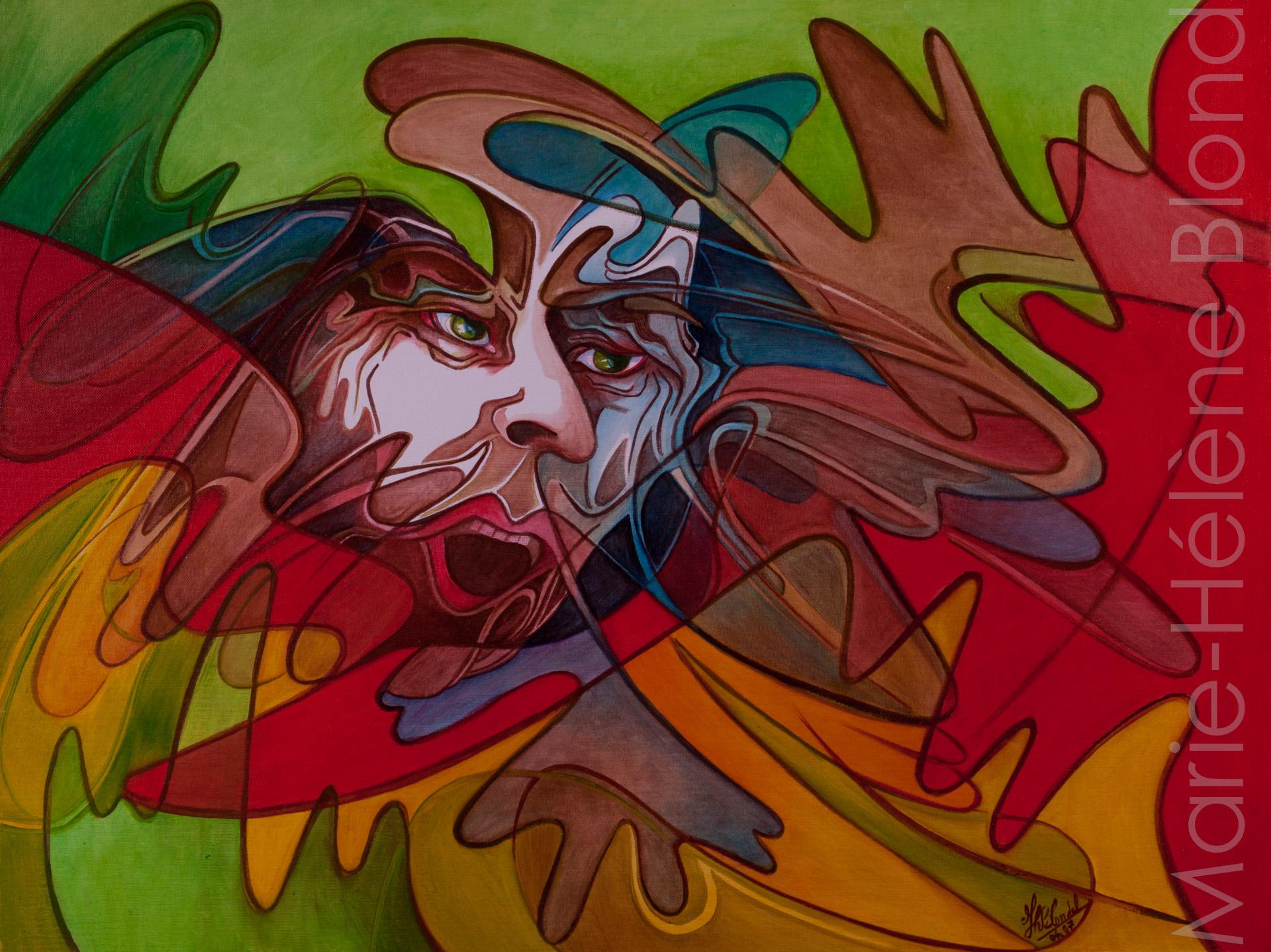 Le cri – 2007 – Huile sur toile – 46 X 61- 260€