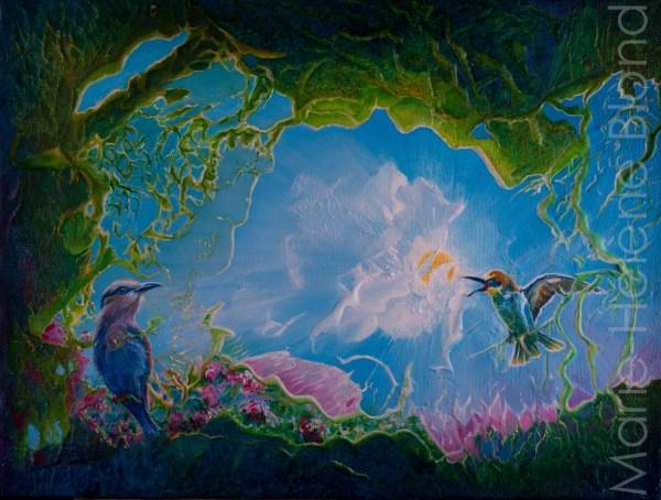 Les oiseaux – 2007 – Acrylique sur toile – 46 X 61 – 280€