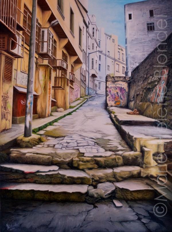 Petite rue d'Istanbul – 2012 – Huile sur toile – 80 X 60