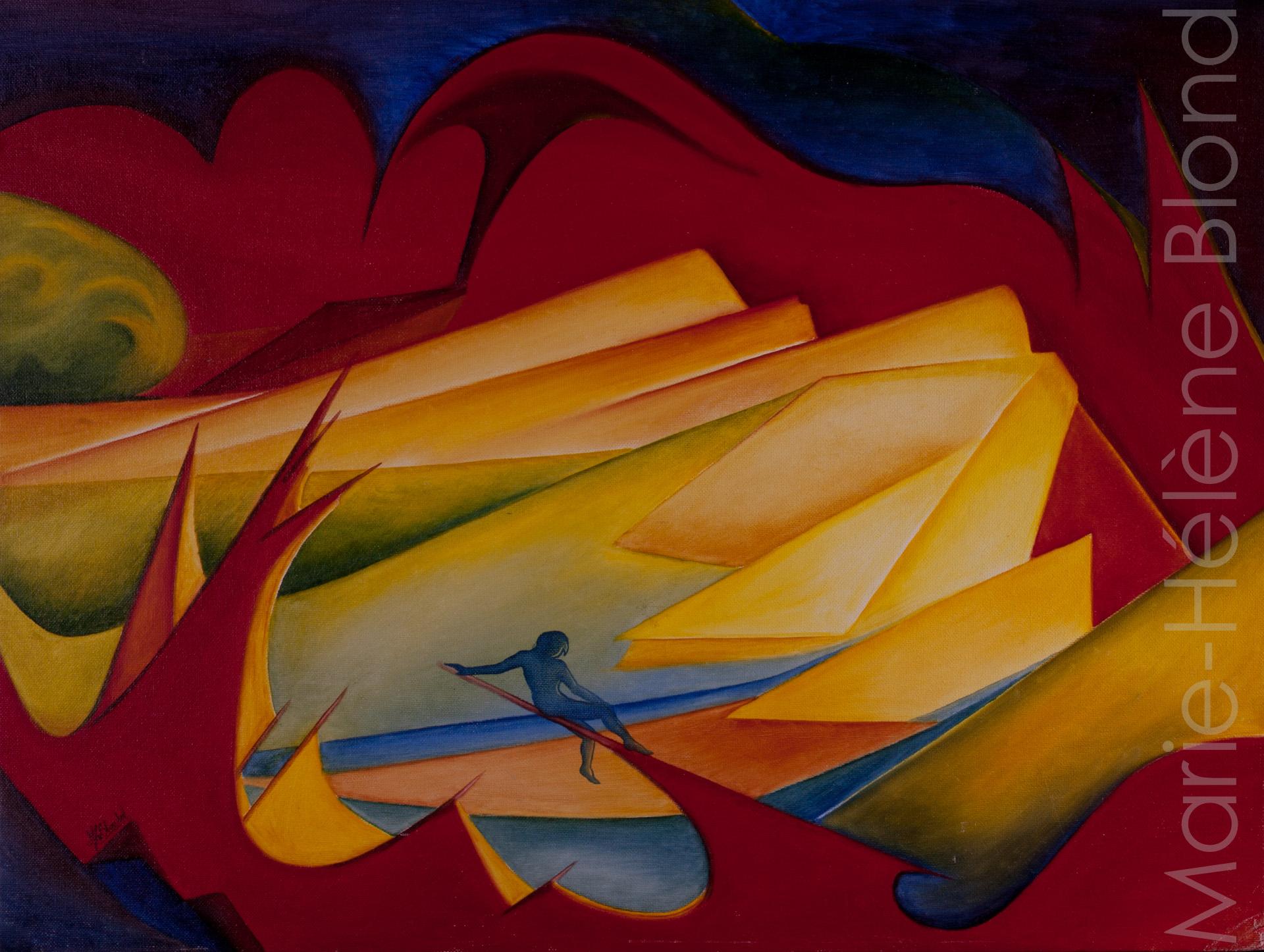 Solitude 1 – 1996 – Huile sur carton entoilé – 45 X 60
