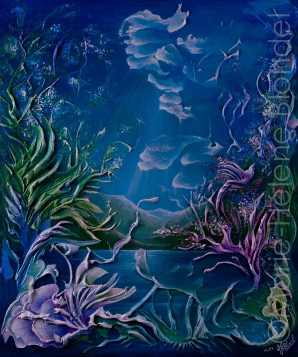 Rêve de lac – 2007 – Acrylique sur toile – 60 X 50