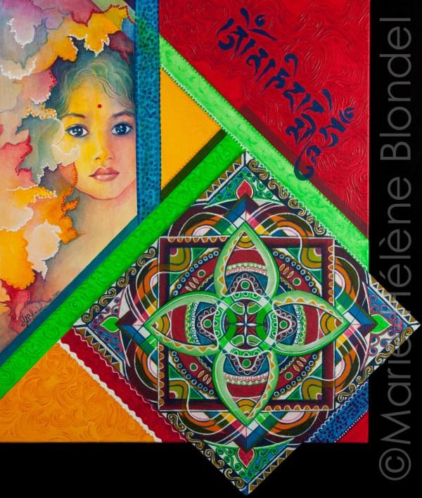 Mandal'harmonie – 2006 – Acrylique sur toile – 61 X 52