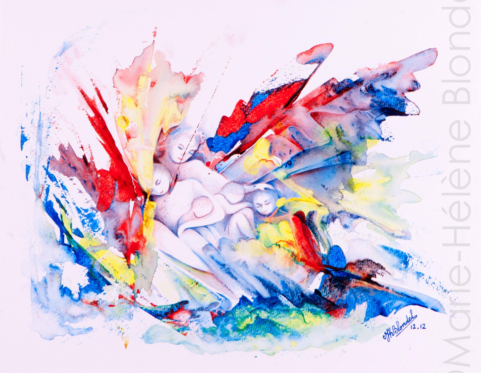 Précarité – 2012 – Acrylique sur papier – 30 X 40 – 120€