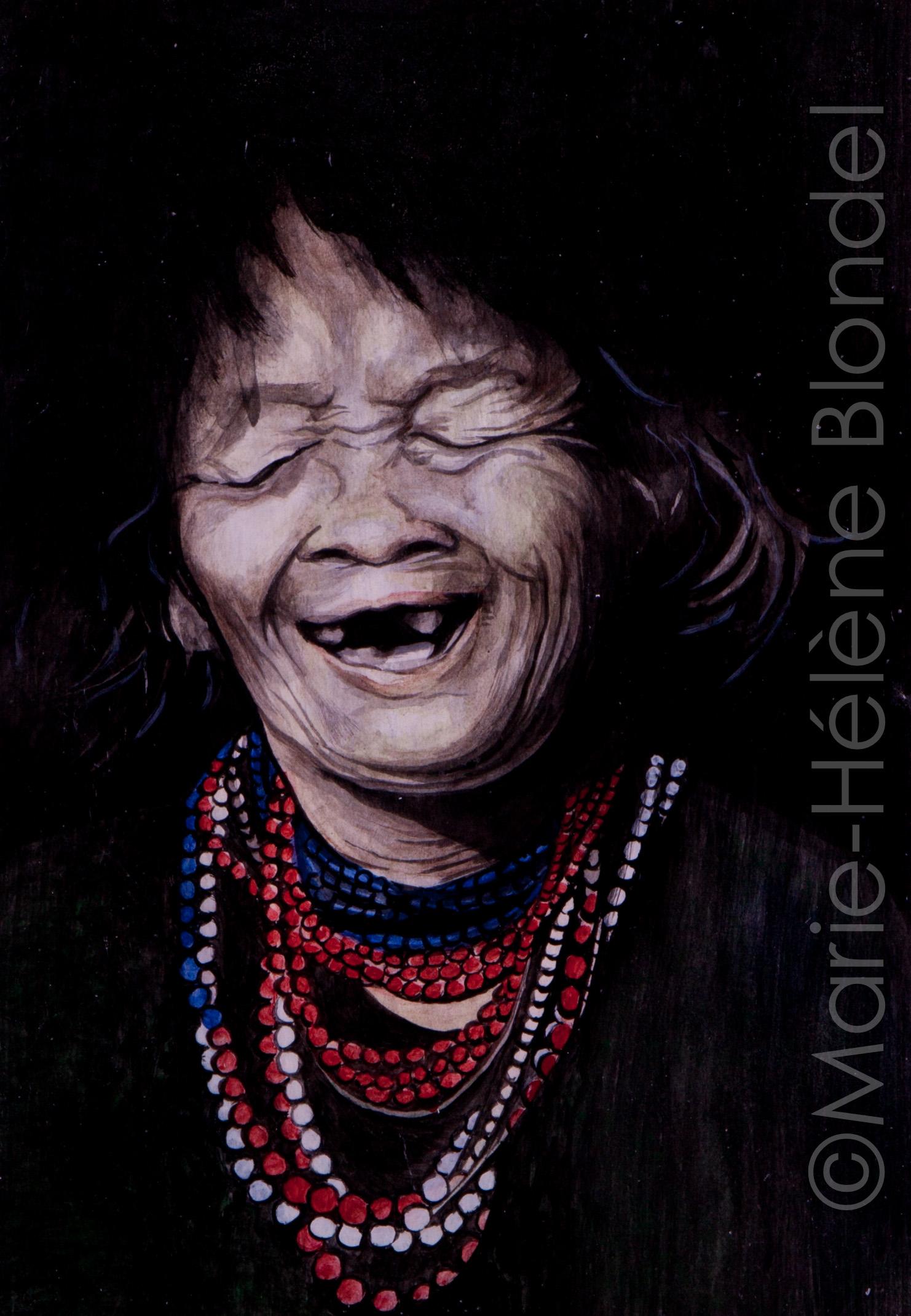 Sourire – 1989 – Encres de Chine sur papier- 30 X 20 – non dispo