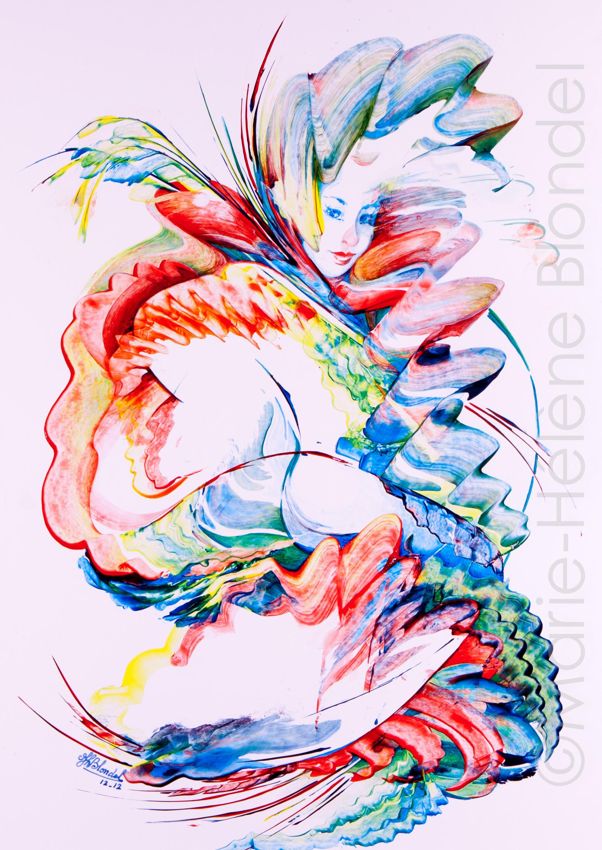 Sirène – 2012 – Acrylique sur carton – 57 X 40
